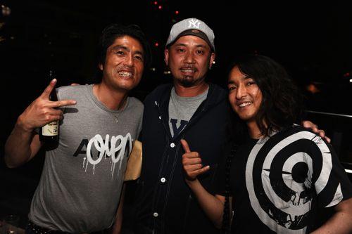 Daidai、ペパーミントカフェのラッシーさん、小沼ようすけさんの3ショット!