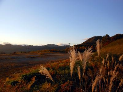 会津高原の景色