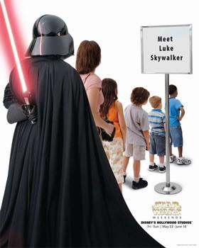 Star Wars Weekends キャスト用ポスター(ヴェーダー卿)