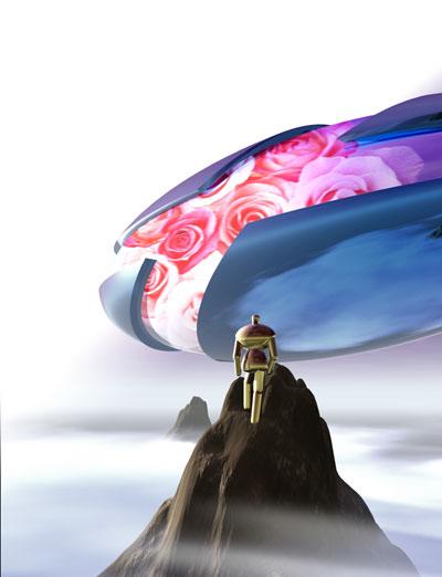 3Dイラスト-薔薇の預言