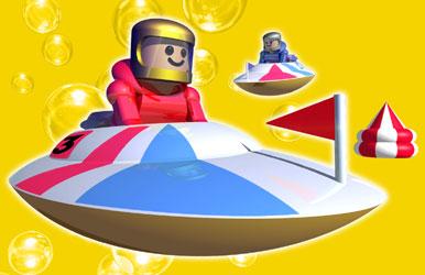 3Dイラスト-ボートレース