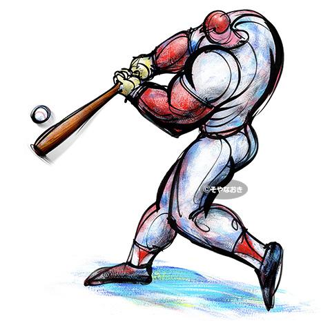 都市対抗野球2013ポスター強打者イラスト