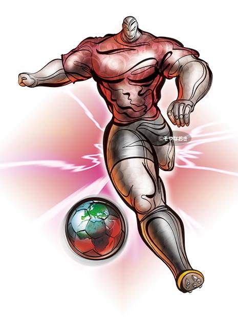 サッカーイラスト、パワーマン1