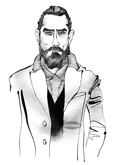 ピープル2髭の男