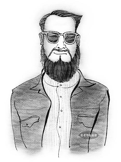 ピープル3髭とサングラスの男