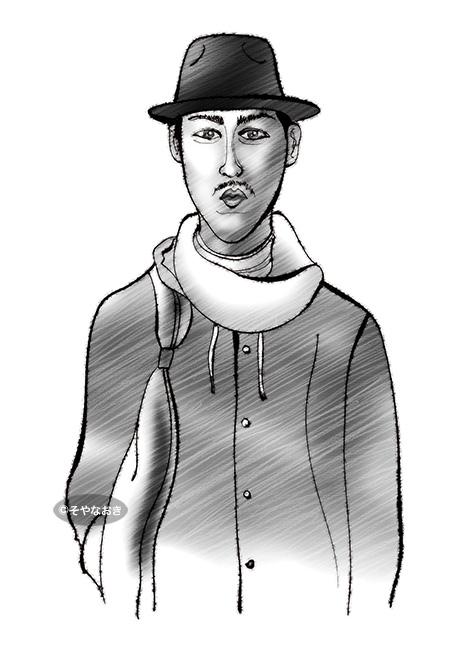 ピープル8帽子の男