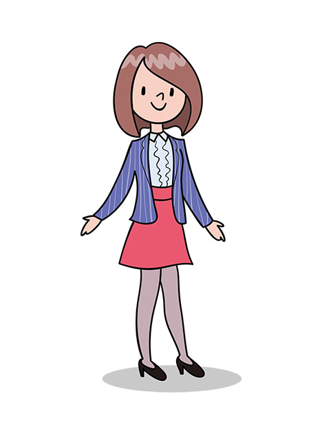 赤いスカートの女性2