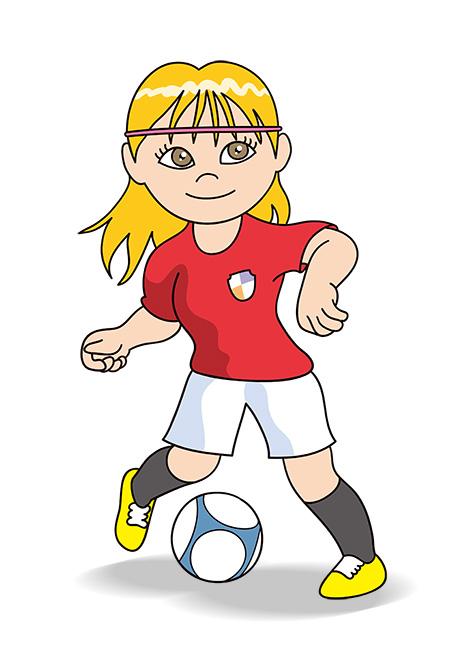 女子サッカー選手、トラップ