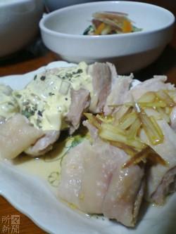 鶏もも肉の2色ソース