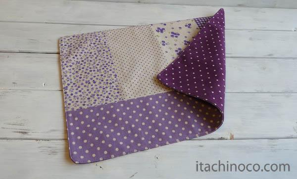 紫パッチ・グレープドットの入園セット