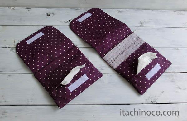 外付けポケット 紫色々ドット1
