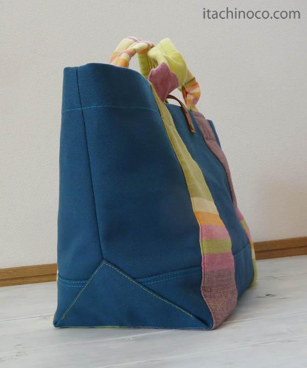 帆布トートバッグ スモーキーターコイズ3