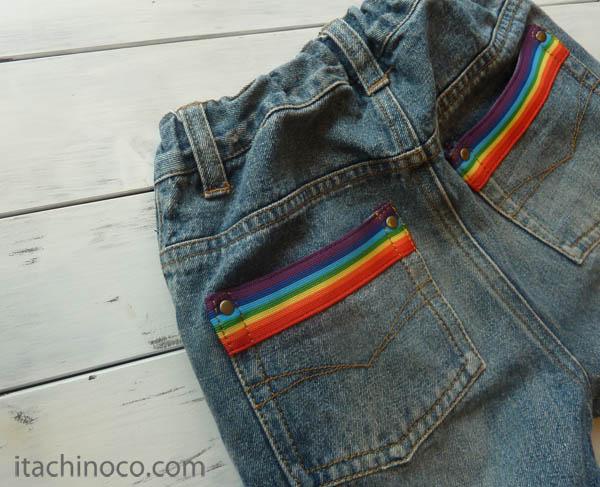 リメイクジーンズポケット