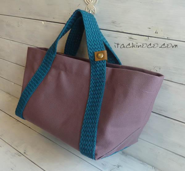 ミニサイズの帆布トートバッグ