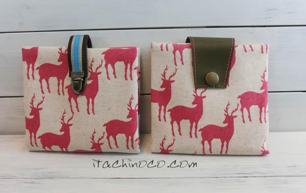 携帯ティッシュケース 鹿ピンク