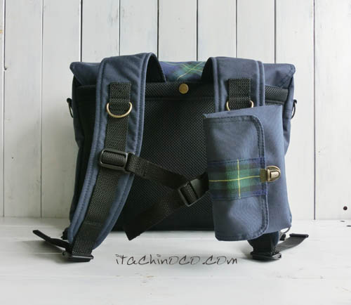 リュックとショルダーの2way通学バッグ