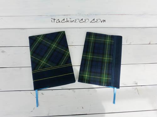 小学生ブラックウオッチと紺色の聖書讃美歌カバー1