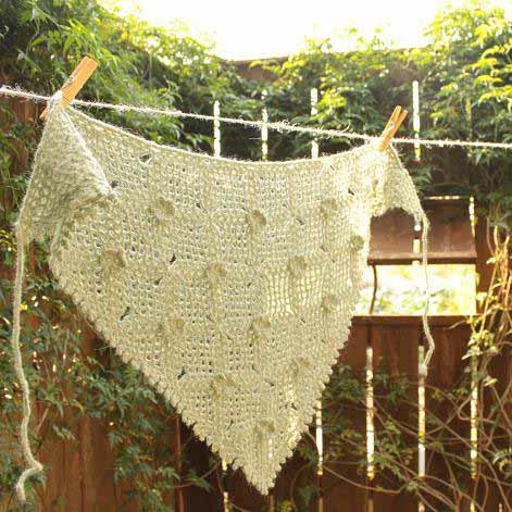 三角ストール 三角ショール 手編み