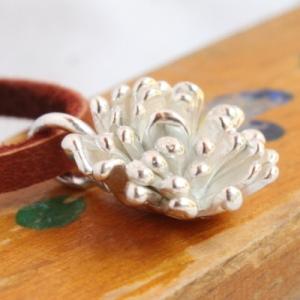 シルバーアクセサリー たんぽぽ お花のネックレス