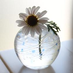 マーガレット 手作りガラス 花びん