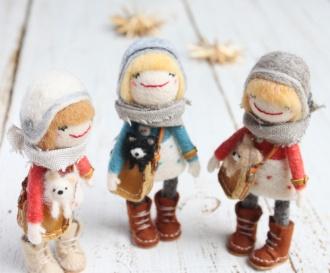 羊毛 羊毛ドール お人形