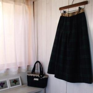 ブラックウォッチ スカート ハンドメイド