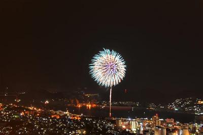 矢太樓から見た花火1