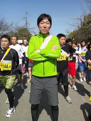 """大阪城リレーマラソン第一走者の""""コジコジ""""です。"""