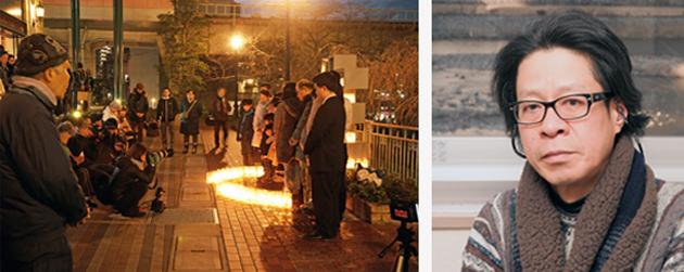 People to mourn the earthquake victims 震災犠牲者を追悼する人々 Ryohei Ohno 大野良平さん