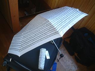 楽譜がデザインされた傘