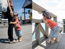 海響館で子供の撮影
