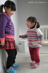 姉妹2歳誕生日記念写真