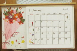 フェアトレード押し花カレンダー・花