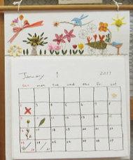 フェアトレードの押し花カレンダー・花
