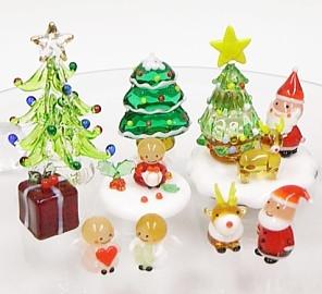 ミニガラスのクリスマス