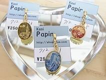 kasi*アンティーク切手のネックレス3