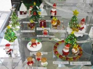 クリスマス・サンタやツリーのミニガラス