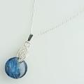 ネパールの青い石 カイヤナイトネックレス