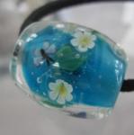 駒形遵・とんぼ玉 花と青い蝶