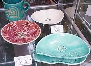 山手セラミックスタジオ*陶器の石けんトレイ