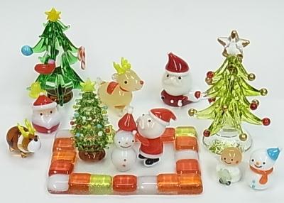 クリスマスのミニガラス