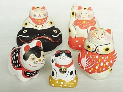 張り子作家*左小里 招き猫