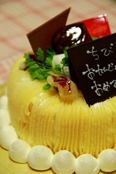 マロングラッセとお芋のモンブラン♪