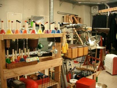たくさんの楽器たち