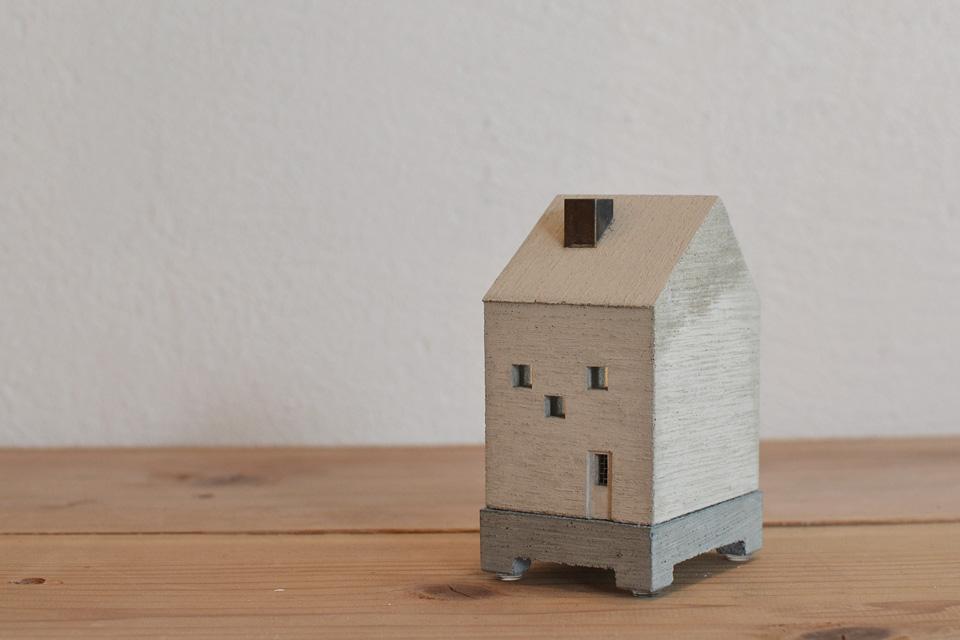 HOUSE INCENSE POT/BLUE