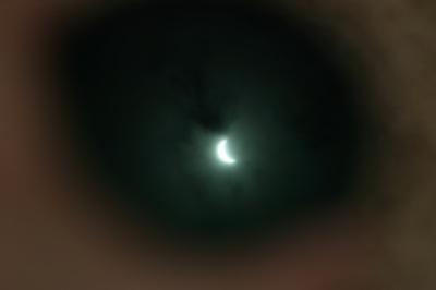 反射した日食