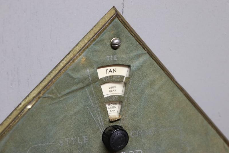 1930s ネクタイハンガー&スーツスタイルチャート