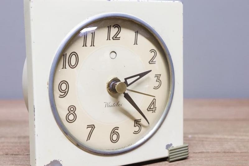 1940年代 ビンテージデスク置き時計westclox