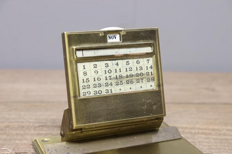1910年代 ヴィンテージ文房具デスクトップカレンダー&クリップボード
