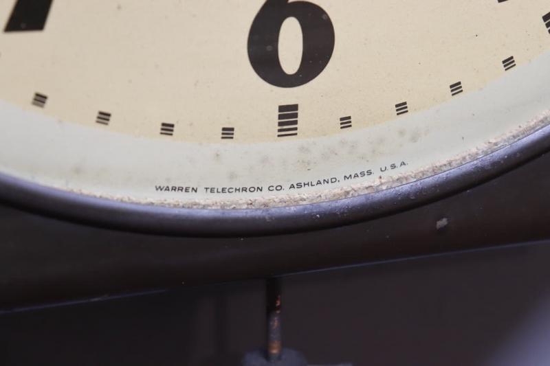 1940年代 ヴィンテージTELECHRONインダストリアルウォールクロック